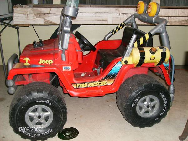 Power wheels Fire Rescue Jeep - 12 Volt (Katy, Texas)
