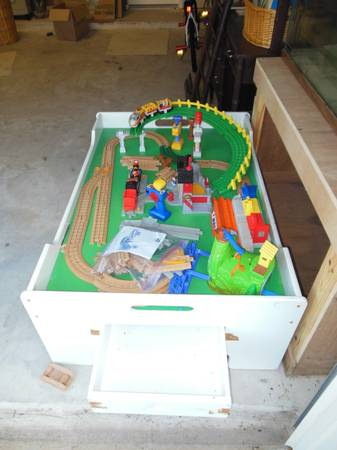 Fisher Price Geo Trax Train w table lots of extra track - $75 (Spring TX)
