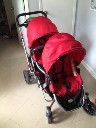 Kolcraft Contours Double Stroller with Carseat Attachment - $90 (Sugar Land, TX)