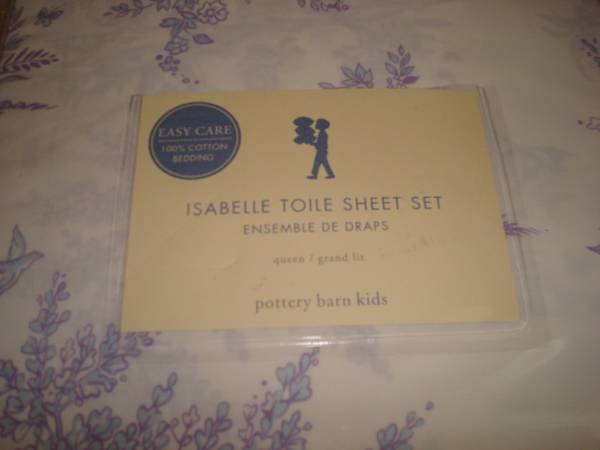 Pottery Barn Kids Toile Queen Bedding NWT - $60 (Katy)
