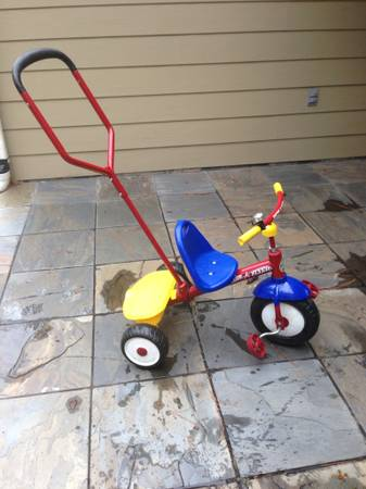 Radio flyer tricycle with parent handle - $50 (Memorial city mall)