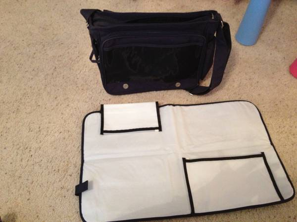 Baby Innovations Messenger Diaper Bag, Dark blue - $35 (Galleria)