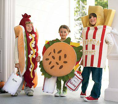 Pottery Barn Kids french fry fries costume 4-6 - $40 (The Woodlands Magnolia)