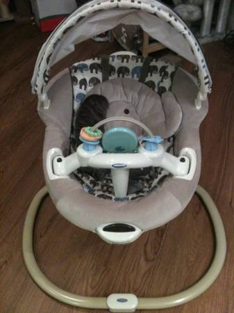 Graco Sweetpeace Infant Soothing Swing - Elefanta - $99 (Houston midtown)