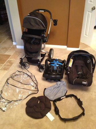 Teutonia T-Linx StrollerCar Seat System $600 new - $250 (cypress )