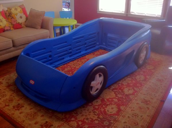 Little Tikes Race Car Bed - Twin Size - Blue - $100 (Cypress)