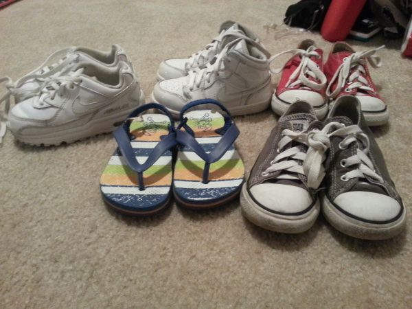 Boys Shoe Lot size 8 Toddler (Nike Converse) - $25 (NW 290Hollister)