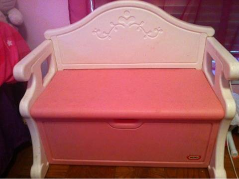 Little Tikes Pink Girls Bench Toy Box USED - $60 (I45 North Little York or Richey Rd)