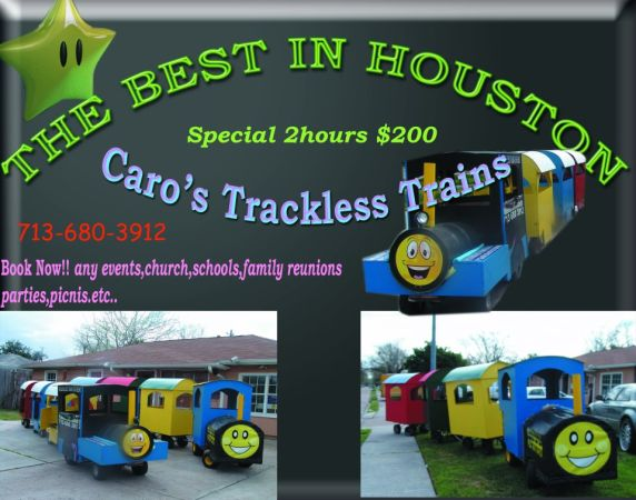 TRACKLESS TRAIN - $1 (HOUSTON)