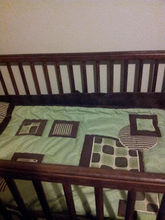 Lamb and Ivy boys crib bedding $60 obo