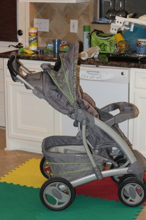 Graco Stroller-Grey w Green Trim - $40 (West Houston)