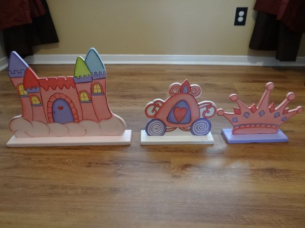 Handpainted Wooden Princess Decoration - $20 (Pearland)