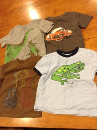 Lot of 4 Baby Gap Boys T-shirts size 2T - $12 (Meyerland Area)