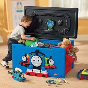THOMAS the TRAIN great TOY BOX TRAIN SETWOW - $49 (NW HOUSTON - Spring)