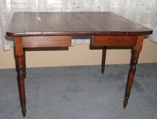 RARE Antique Childrens Table With Center Leaf Childs Tea Table - $100 (Tomball)
