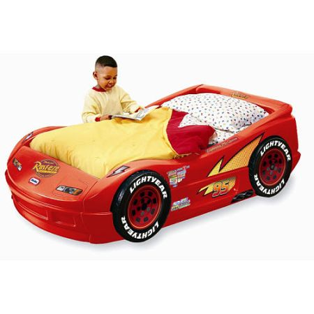 Disney Pixars Lightning McQueen Race Car Bed (kingwood, 77345)