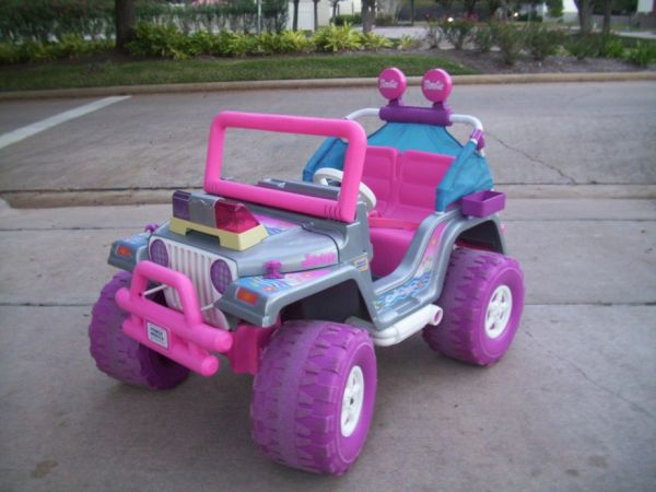Barbie Jeep POWER WHEELS w Battery Charger - $100 (Missouri CitySugar LandKaty)