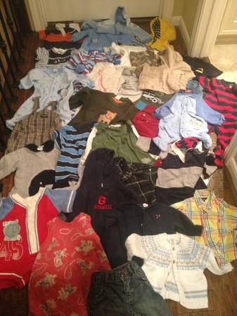 Huge lot of baby boy clothes - $1 (between Katy and Memorial City Mall)