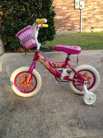 Huffy 12 inch Girls Disney Princess Bicycle Tricycle with Carriage - $20 (Pearland, TX)