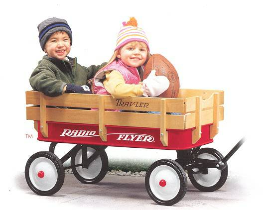 radio flyer travler wagon with wood side - $75 (clear lakeleague citydeer parkhouston)