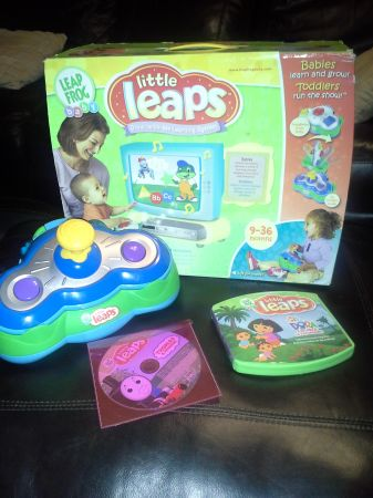 Leap Frog Little Leaps Game System plus 2 games - $25