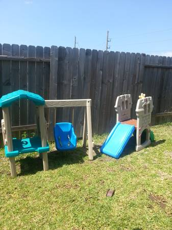 little tikes slide and swing set - $70 (Katy cypress)