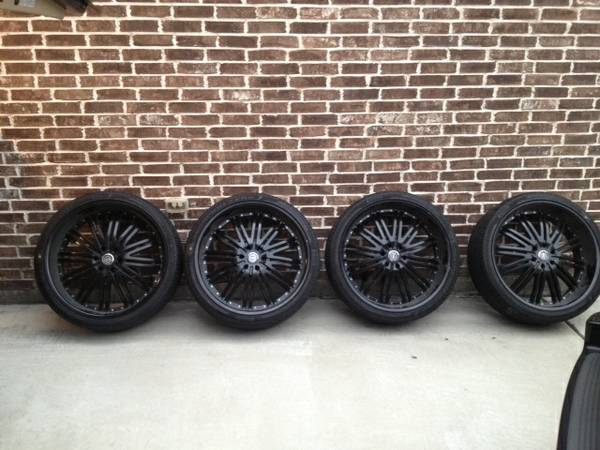 26 inch Wheels and Tires Black - $3100