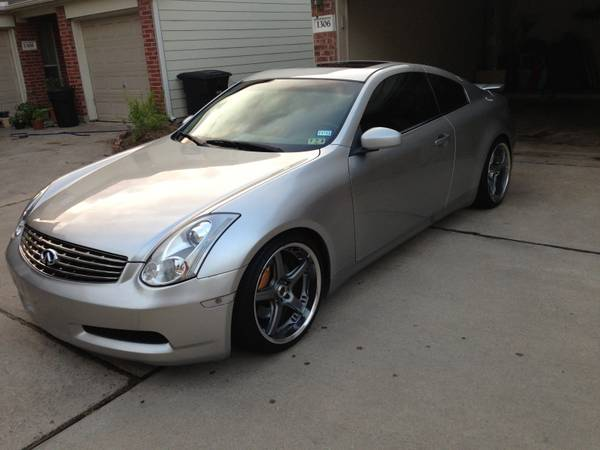 2003 infiniti g35 coupe volk wheels, hks - $8000 (Midtown houston tx)