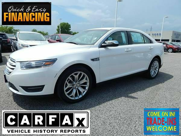 $20,989, 2014 Ford Taurus Limited White Platinum Met 31,361 mis BEAUTIFUL