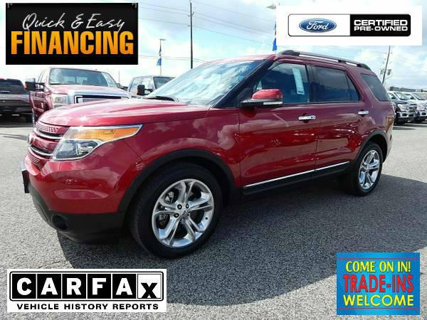 28 789  2015 Ford Explorer Limited  FORD CERTIFIED Ruby Red Met