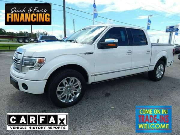 33 852  2013 Ford F150 Super Crew Platinum  WHITE PLATINUM MET49 814 mi