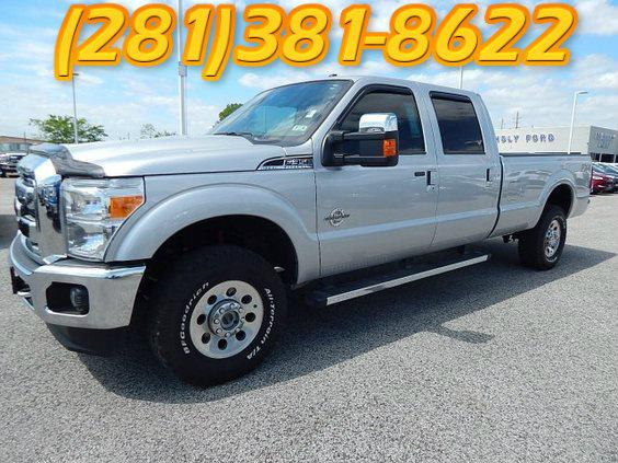 $45,831, 2012 Ford F350 4x4 Super Crew Lariat SILVER 73072 mis MUST-SEE