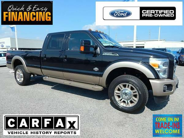 50 989  2014 Ford F350 4x4 Super Crew King Ranch  BLACK  FORD CERTIFIED