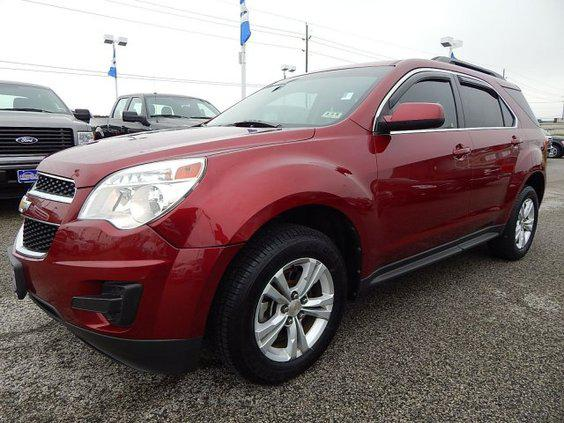 $16,589, 2010 Chevrolet Equinox LT w 1LT 61,365 mi Cardinal Red Metallic
