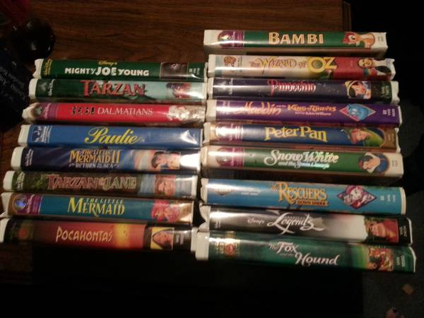 Disney VHS tapes and a VCR - $45 (NE Houston)