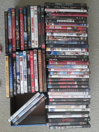 400 DVDs - HUGE DVD COLLECTION FOR SALE - $1 (Houston - SW)