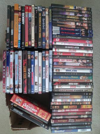 HUGE DVD COLLECTION FOR SALE - More than 450 titles - $1 (Houston - SW)