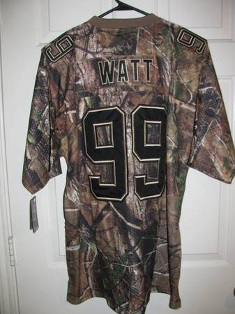 New JJ Watt Jersey Camouflage w Hall of Fame Patch XXL - $60 (Pearland)