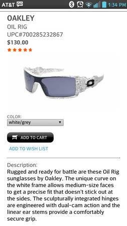 New Oakley shades Oil Rig - x002490 (galleria west)