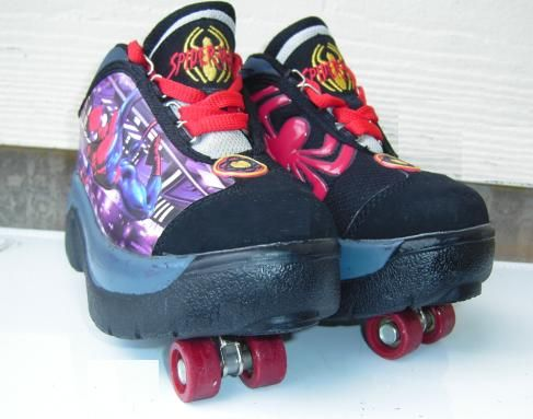 -Marvel SpiderMan Street Flyers Sneaker Roller Skates -Kids Size 12 - $22 (Houston Northeast Aldine Westfield Rd)