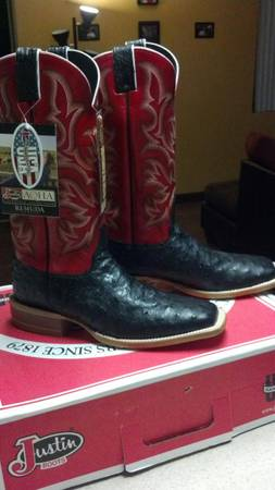 justin ostrich boots - $300 (houston)