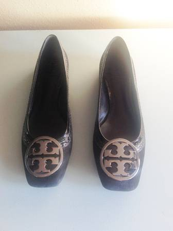 Tory Burch Black Suede Leather Flats - $90 (1960Chions)