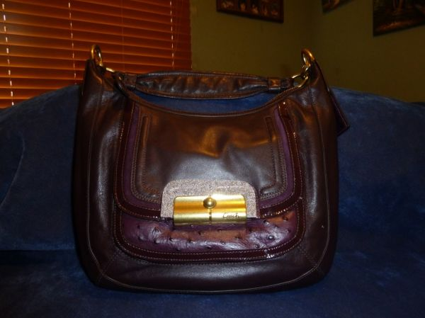 Auth. Coach Leather Kristin Spectator Convertible Hobo Bag 18287 Plum - $240 (Sugar Land, TX near 9099)