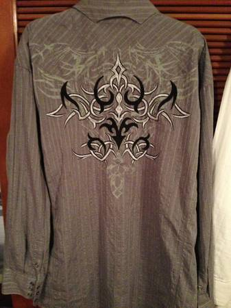 Cavenders Panhandle slim 90 PROOF shirts ---SIZE 2X--- - $1 (Deer park)