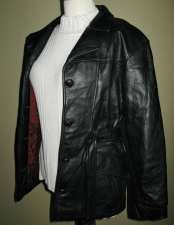 Womens TANNERY WEST Black Leather Jacket With Thinsulate Size XS - $55 (Katy Houston Cypress)