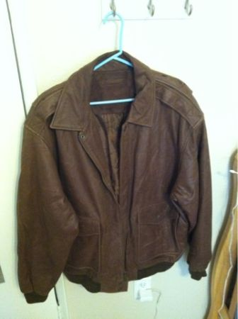 Roundtree  Yorke Wright Leather Aviator Jacket - $50 (Clear Lake)