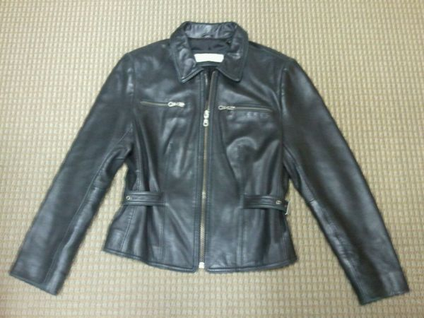 WOMENS BLACK LEATHER JACKET-VALERIE STEVENS-NEW ZEALAND LAMBSKIN - $75 (Houston)