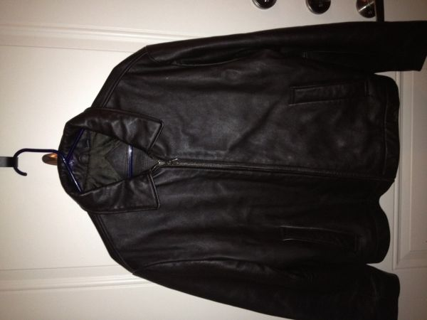 Roundtree  Yorke brown leather jacket (Katy)