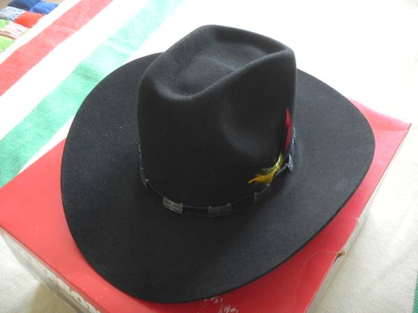 Stetson 4X Beaver Hat, 7-12, black - $125 (Katy, Texas)