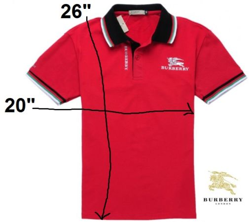 Mens BURBERRY Polo Shirt, Size M, Color Red - $35 (East Houston)